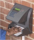 Biometric Hand Scanners employee clocking system