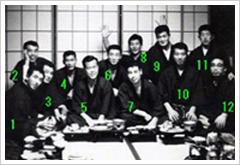 Shidoins at hombu dojo (circa 1965)